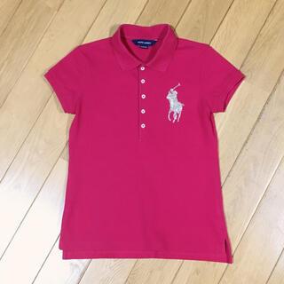 ラルフローレン(Ralph Lauren)の【140】ラルフローレン 半袖ポロシャツ 濃ピンク ビッグポニー ビーズ(Tシャツ/カットソー)