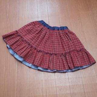 familiar - 中古 familiar リバーシブルスカート 110 100
