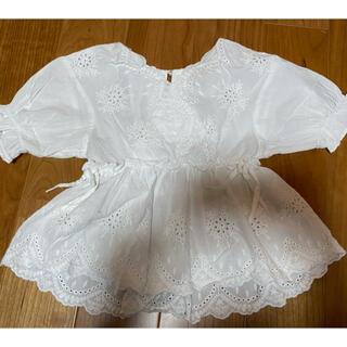 プティマイン(petit main)のベビー コットンシャツ(Tシャツ/カットソー)