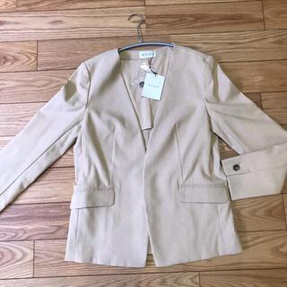 PLST - 【新品タグ付】PLSTリネンブレンドストレッチカラーレスジャケット
