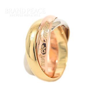 カルティエ(Cartier)のカルティエ トリニティリング K18YG/PG/WG 3カラーゴールド #50(リング(指輪))