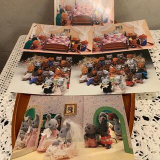 エポック社 シルバニアファミリー  初期   1980年代 レトロ カード6枚(印刷物)