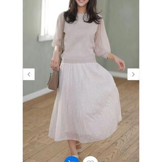 エニィスィス(anySiS)の刺繍風ミニフラワープリントプリーツスカート♡(ロングスカート)