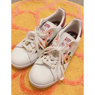 adidas - アディダス スタンスミス フラワー 刺繍 白 パワーベリー 24.5