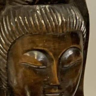 観音菩薩像  仏教美術   木彫り    31cm(彫刻/オブジェ)