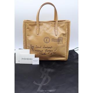 イヴサンローランボーテ(Yves Saint Laurent Beaute)の【付属品完備】イヴサンローラン YSL ハンドバッグ ロゴ エナメル(ハンドバッグ)