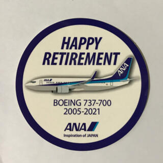 エーエヌエー(ゼンニッポンクウユ)(ANA(全日本空輸))のANA B737-700 退役記念 ステッカー(航空機)