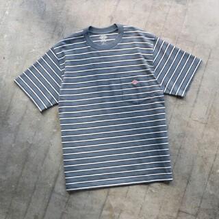 ダントン(DANTON)の新品 DANTON  ダントン Tシャツ  半袖 ブルーボーダーtシャツ  40(Tシャツ/カットソー(半袖/袖なし))