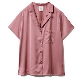 gelato pique - ジェラピケ ジェラートピケ ストロベリー刺繍サテンシャツ