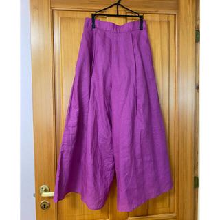 シップスフォーウィメン(SHIPS for women)のSHIPS キュロットスカート M  麻100% さくらんぼ様専用(ロングスカート)