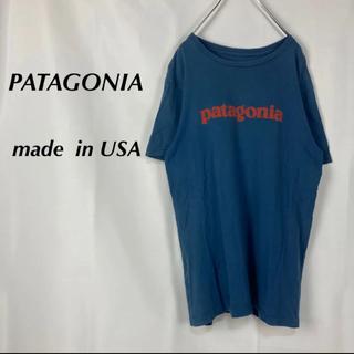 パタゴニア(patagonia)の☆アメリカ製☆パタゴニア☆ビッグロゴ☆半袖カットソー☆くすみカラー(Tシャツ/カットソー(半袖/袖なし))