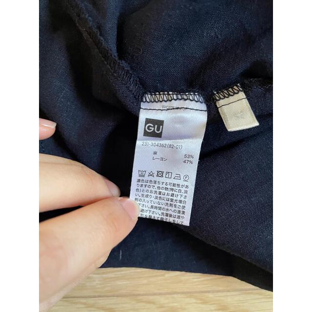 GU(ジーユー)のトップス  ㊱ レディースのトップス(Tシャツ(半袖/袖なし))の商品写真