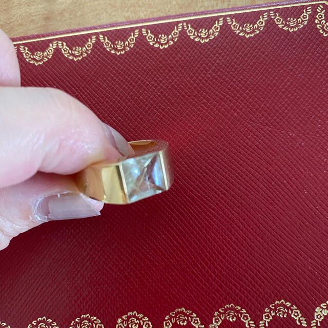 Cartier(カルティエ)のカルティエ タンクリング 針水晶 金運 ルチルクォーツ レディースのアクセサリー(リング(指輪))の商品写真