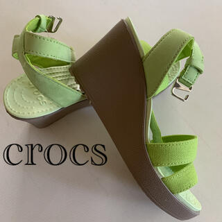crocs - ☆新品☆ クロックス レイ アンクルストラップ サンダル 小さ目 W 5  21