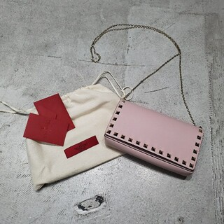 ヴァレンティノ(VALENTINO)のヴァレンチノ ロック スタッズ グレイン スモール バッグ ショルダーバッグ(ショルダーバッグ)
