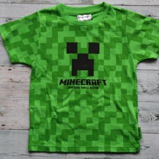 しまむら - マイクラ クリーパー柄 Tシャツ 130