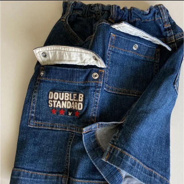 DOUBLE.B(ダブルビー)の2点専用!ミキハウス ダブルビー デニム スカート 130 スリット入り  キッズ/ベビー/マタニティのキッズ服女の子用(90cm~)(スカート)の商品写真