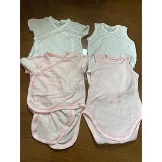 ユニクロ(UNIQLO)の新生児下着 ほとんど使用してない美品(タンクトップ/キャミソール)