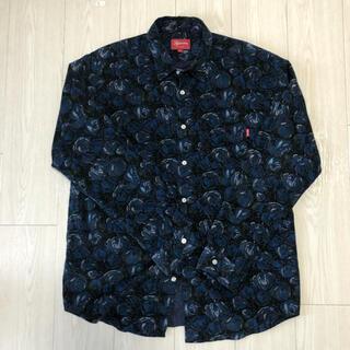 シュプリーム(Supreme)のsupreme roses corduroy shirt Blue L(シャツ)