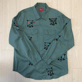 シュプリーム(Supreme)のSupreme Skulls Embroidered Work Shirt  L(シャツ)