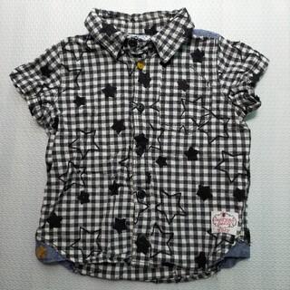 ブリーズ(BREEZE)のBREEZE 星柄チェックシャツ 90(ブラウス)