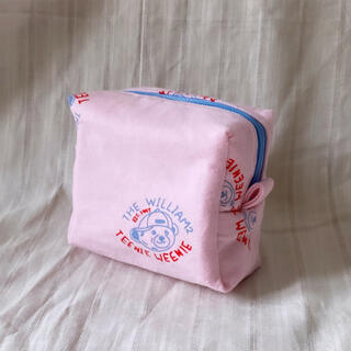 Pink KUMA box pouch ♡ ポーチ ころんとしたボックスポーチ