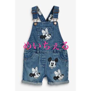 ディズニー(Disney)の【新品】ミッドブルー Mickey & Minnie デニムオーバーオール(パンツ)