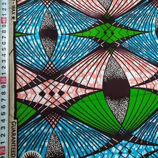 85 ライトブルー アフリカ布 50cm x 110cm バオバブ神戸(生地/糸)