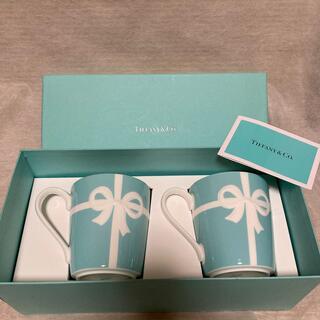 Tiffany & Co. - ティファニー ブルーボックス マグカップ 2個 新品 リボン 食器 ブルーリボン
