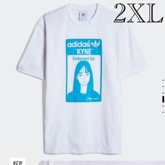 adidas(アディダス)のadidas × KYNE コラボTシャツ 希少2XLサイズ メンズのトップス(Tシャツ/カットソー(半袖/袖なし))の商品写真