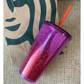 Starbucks Coffee - 新作☆スタバ リユーザブル ストローカップ スパークリング×グラデ 海外限定