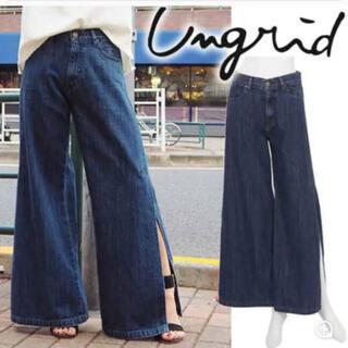 Ungrid - ungrid スリットフレアデニム 新品タグ付 サイズ26