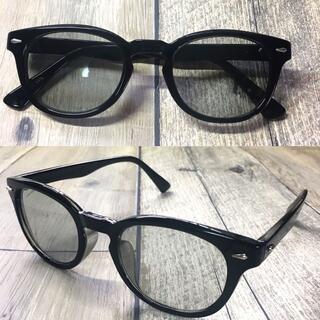 バイカーシェード ライトグレー ウェリントン サングラス ボストン 眼鏡