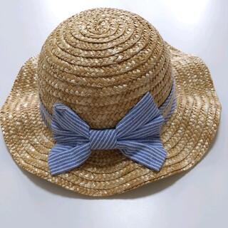 52cm 紐付き麦わら帽子