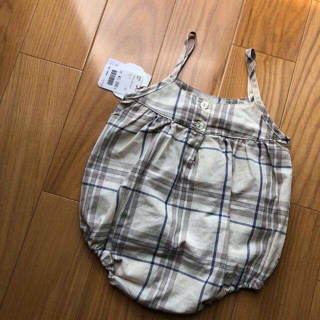 しまむら(シマムラ)のテータテート バースデイ 70 チェック キッズ/ベビー/マタニティのベビー服(~85cm)(ロンパース)の商品写真