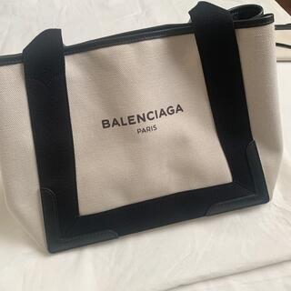 バレンシアガ(Balenciaga)の美品 バレンシアガ  ネイビーカバ S(トートバッグ)