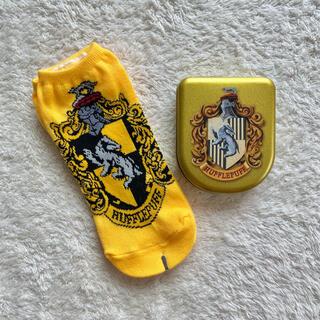 ユニバーサルスタジオジャパン(USJ)のHarry Potter ハッフルパフ 靴下 缶 セット ハリーポッター(キャラクターグッズ)