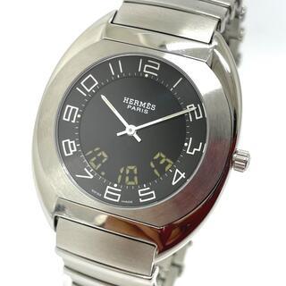 Hermes - エルメス ES1.710 エスパス メンズ腕時計 シルバー シルバー×ブラック