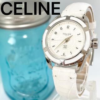 celine - 46 CELINE セリーヌ時計 レディース腕時計 ホワイト 箱付き 人気