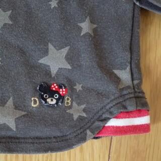 ダブルビー(DOUBLE.B)のダブルビー重ね着風長袖Tシャツ130女の子ロンT星柄ボーダー(Tシャツ/カットソー)