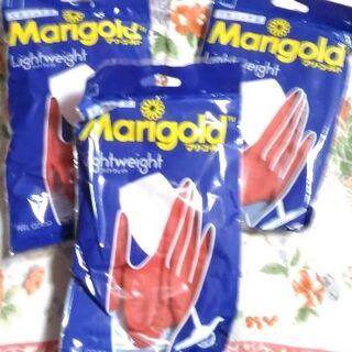 マリーゴールド ゴム手袋 Mサイズ3双セット