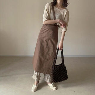 TODAYFUL - Linen wrap skirt lawgy amiur