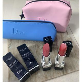 ディオール(Dior)のDior ルージュディオール【新品未使用】2本セット+選べるノベルティ(口紅)