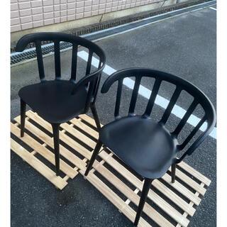 IKEA チェア ブラック 二脚セット デザイン 状態良い
