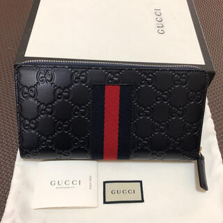 Gucci - 未使用★グッチ GUCCI長財布 ラウンドファスナー ネイビー正規品