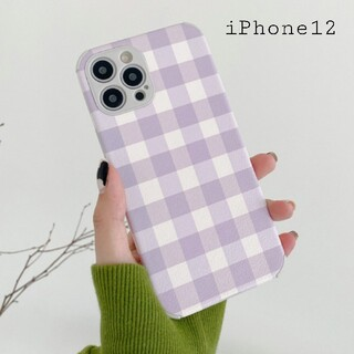 iPhone12 iPhoneケース スマホケース ギンガムチェック