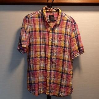 vital monsieur NICOLE麻シャツ半袖チック48新品未使用