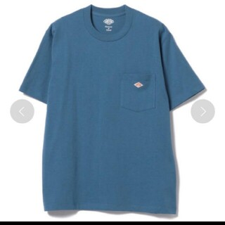 ダントン(DANTON)の新品 DANTON DANTON  ロゴ ポケットTシャツ ブルー 38 (Tシャツ/カットソー(半袖/袖なし))