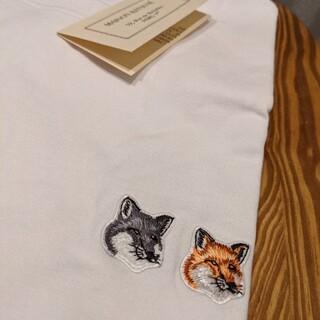 メゾンキツネ(MAISON KITSUNE')のSサイズ メゾンキツネ Tシャツ ダブルフォックス(Tシャツ(半袖/袖なし))