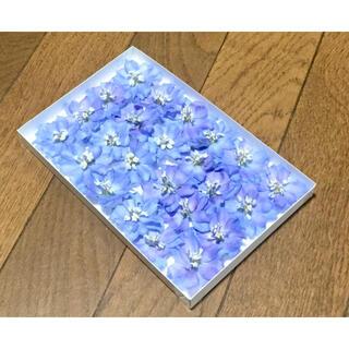 い③  銀の紫陽花が作った美しい空色のデルフィニウム(ドライフラワー)